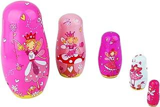HOMYL 5PCS Painted Wooden Dancing Girl Angel Princess Russian Nesting Dolls
