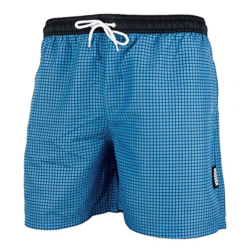 Guggen Mountain Herren Shorts Bademode Badehose (159B) Badeshorts Schwimmshorts Shorts S - XXL NEU Größe M/5, Farbe Blau