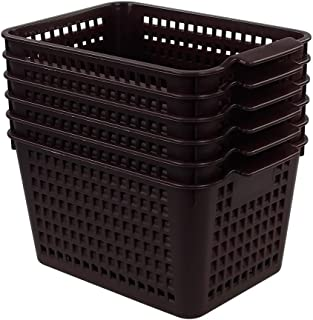 brown plastic storage containers