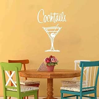 Vintage Cocktail Glass Glass Wall Sticker Bar de Cocina Drink Wine Wine Sign Tatuajes de Pared Restaurante Vinilo Decoración del hogar
