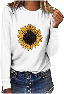 Sunflower Shirts for Women Long Sleeve Vintage Graphic...