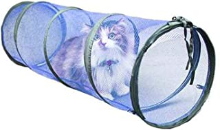Vndaxau See Through Cat Crawl Tunnel Toys for Indoor Outdoor Cats Playing Tent Cube, Breathable Mesh,for Kitten Summer Training