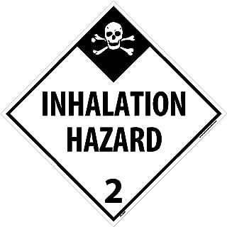 DL105P National Marker Dot Placard Inhalation Hazard Sign 2, 10 3/4 Inches x 10 3/4 Inches, Ps Vinyl