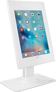 Mount-It! Anti-Theft iPad Pro Kiosk Mount - Secure iPad Pro POS Stand, Rotating Tablet Enclosure Stand, iPad Pro 12.9 Desk Mount, Tilting iPad Pro Counter Stand for iPad Pro 12.9 White MI-3771W-XL