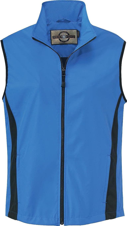 North End Ladies Active Performance Vest. 78028 - Medium - Lake Blue / Black