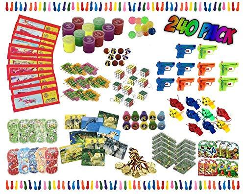 KSS 240 Teile Mitgebsel , Mitbringsel , Kindergeburtstag , Party , Tombola ,Verlosung ,Give Aways , Geschenktüten , Kinderparty