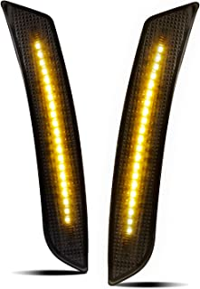RUXIFEY Smoked Lens LED Side Marker Lights Front Bumper Sidemarker Lamps Reflectors Compatible with 2016 to 2018 Chevy Camaro Amber - Pack of 2