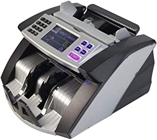 BYCDD Counterfeit Detection Bill Counter Machine, LED Display UV/MG/IR Counterfeit Money Detector Automatic Counting Compa...
