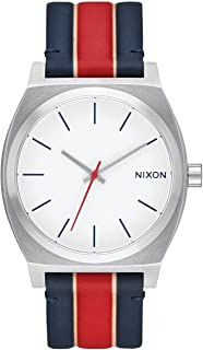 Nixon Time Teller White Dial Leather Strap Unisex Watch A045185400