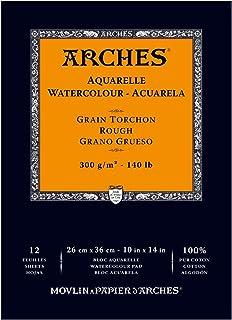 "Arches Watercolor Paper Pad, 140 pound, Rough, 10""x14"""