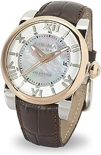 Locman - Italy Mujer Toscano Reloj Automático Marrón teilvergoldet Ref. 590