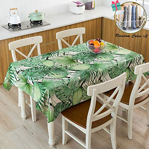 Fansu Rectangular Mantel para Mesa,Antimanchas Impermeable Lavable Plantas Verdes nordicas Mantel - Adecuado para Decorar Cocina Comedor Salon Restaurante (100x140cm,Geometria)