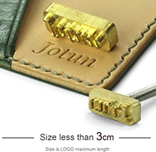 Brass Leather Stamps Logo Carving Tools Embossing Seal Hot Branding Personalized Mold Heating on Wood Custom Iron Parts, Size Less Than 3cm