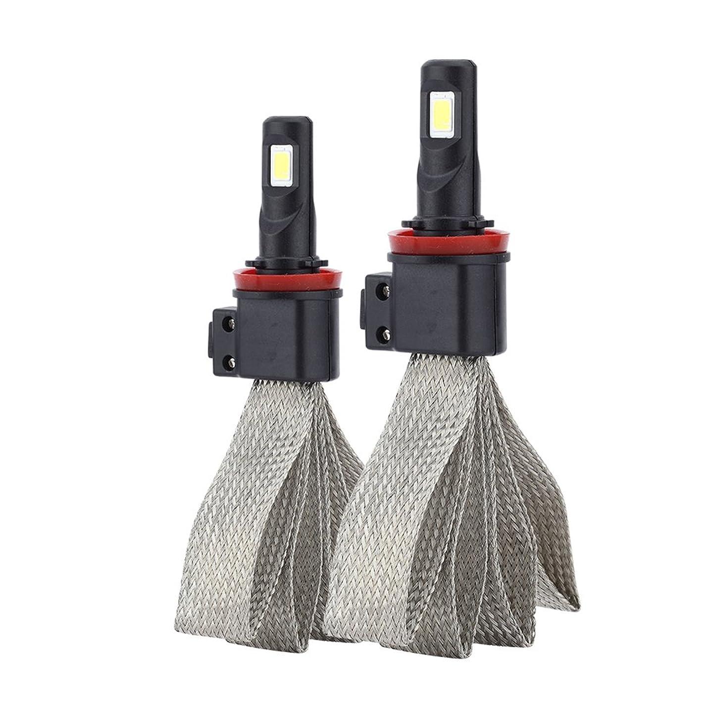 ほぼ幸福誠実さLiebeye LEDヘッドライト H8/H9/H11 S7 車用 電球 交換 信号 照明 ユニバーサルアプリケーション 2個セット
