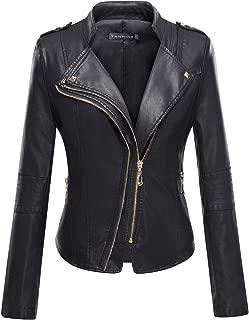 leather jacket gold hardware women's