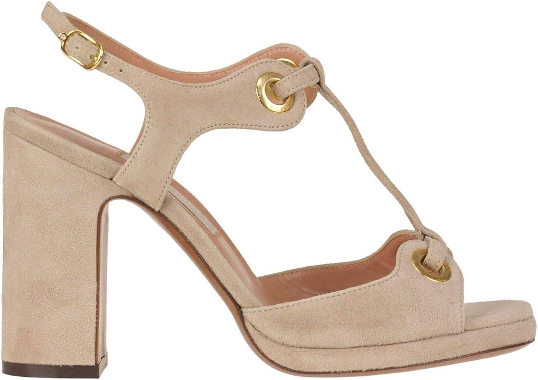 L'AUTRE CHOSE Women's MCGLCAT000005107E Beige Suede Sandals