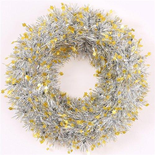 Endless Creations 37cm decorazione ghirlanda argento con mini stelle dorate