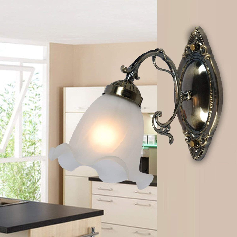 HUAIX Home Europische einfache Nachttischlampe Badezimmerspiegel Scheinwerfer Pastorale Wandleuchte