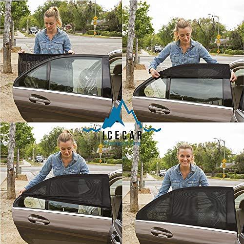 ICECAR Tendine Parasole Auto Bambini Originali - Nuovo Tessuto 130g/m² Premium Royal Stretch 2021 - Protezione Raggi solari UV, Insetti, Privacy...