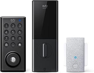 قفل هوشمند eufy Security با پل Wi-Fi ، قفل درب ورودی بدون کلید با Wi-Fi ، کنترل برنامه ، Deadbolt الکترونیکی بلوتوث ، گواهی BHMA ، محافظت ضد آب در برابر IPX3 ، صفحه کلید الکترونیکی