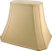 American Pride (7x10) x (12.25x18) x 13 Rectangle Soft Shantung Tailored Lampshade, Honey