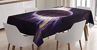 ABAKUHAUS Galaxie Nappe, Trippy Planète Cosmos, Linge de Table Rectangulaire pour Salle à Manger Décor de Cuisine, 140 cm ...