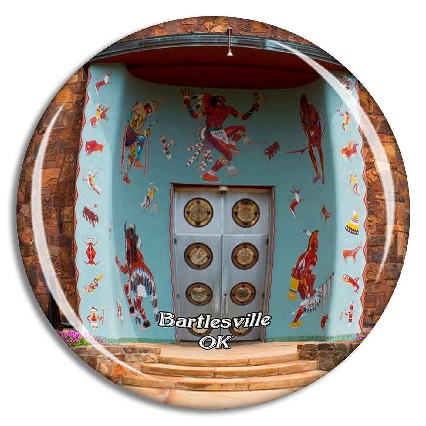 逃げる嵐が丘ダニBartlesville Woolaroc Museumオクラホマ米国冷蔵庫マグネット3Dクリスタルガラス観光都市旅行お土産コレクションギフト強い冷蔵庫ステッカー