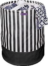 PrettyKrafts Canvas Laundry Bag, Toy Storage, Laundry Storage (45 L) - Black Stripes