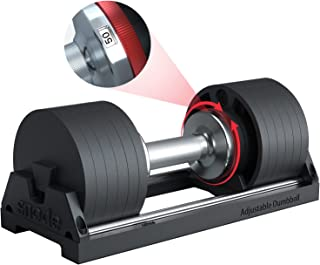 SNODE Cast Iron Adjustable Dumbbell for Men and Women- with Anti-Slip Metal Handle, Adjustable Weight Plates for Strength ...