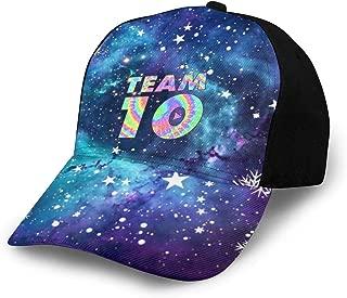 Kddcasdrin Team10 Tie Dye Jake Paul Women Men Girls Boys Teens Adjustable Baseball Cap Hip-Hop Hat