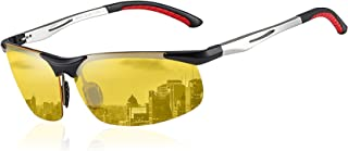 Yellow Night-vision Glasses Anti-glare Driving Eyewear Polarized HD Night Driving Sunglasses 2181