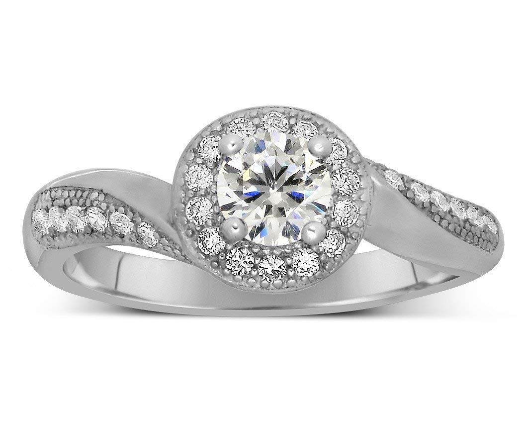 Antique 1.50 Carat Round Diamond Ring and Engagement Max 57% OFF Moissanite Popular brand in the world