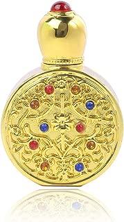 YUFENG Vintage Golden Old Perfume Bottle Empty Refilable Perfume Bottle Exotic Arabian Anniversary Potion Wedding Antique