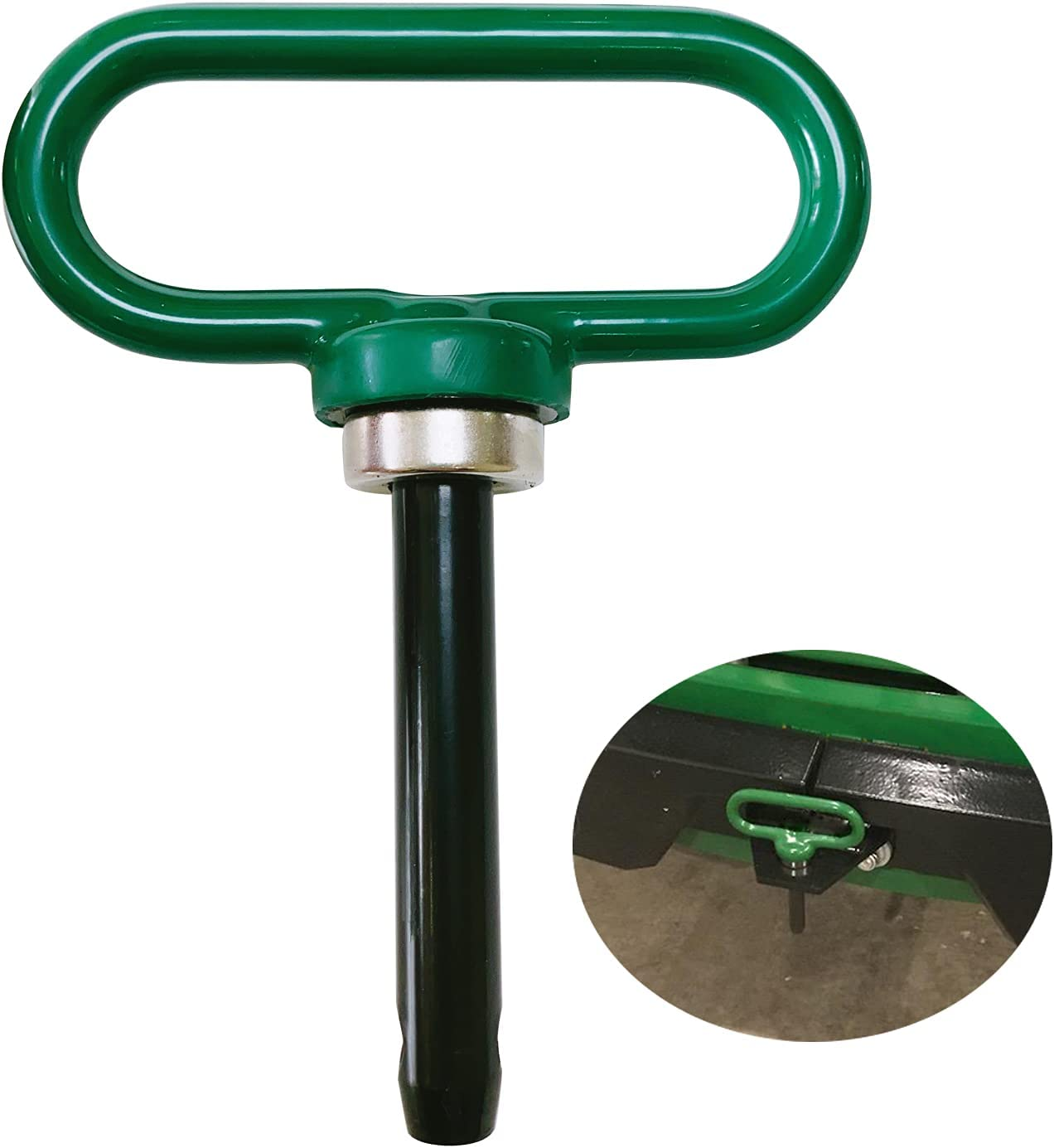 Fivepine Lawn Mower Trailer Hitch Pins Strong Magnet Fixed Garden Tractor Hitch Pin