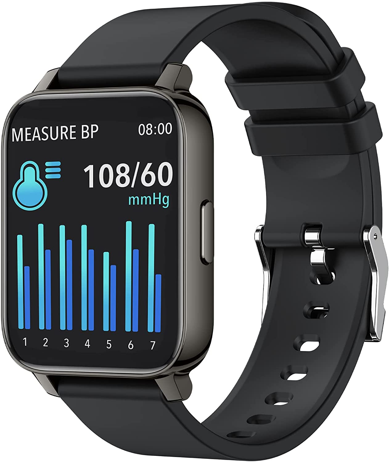 yussa Smart Watch | Latest Generation 2021 | Blood Pressure Monitor (No Phone Required)| Blood Oxygen SpO2 | Heart Rate | Sleep Monitor | IP67 Waterproof | Fitness Tracker | for Women and Men