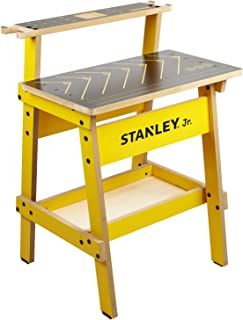 Stanley Jr. Kids Work Bench – Real Wood Craft Kits for Kids – Fun Working Bench for Kids – Kids Workshop Tool Bench – Children's Play Work Bench – Play Construction Sets for Kids