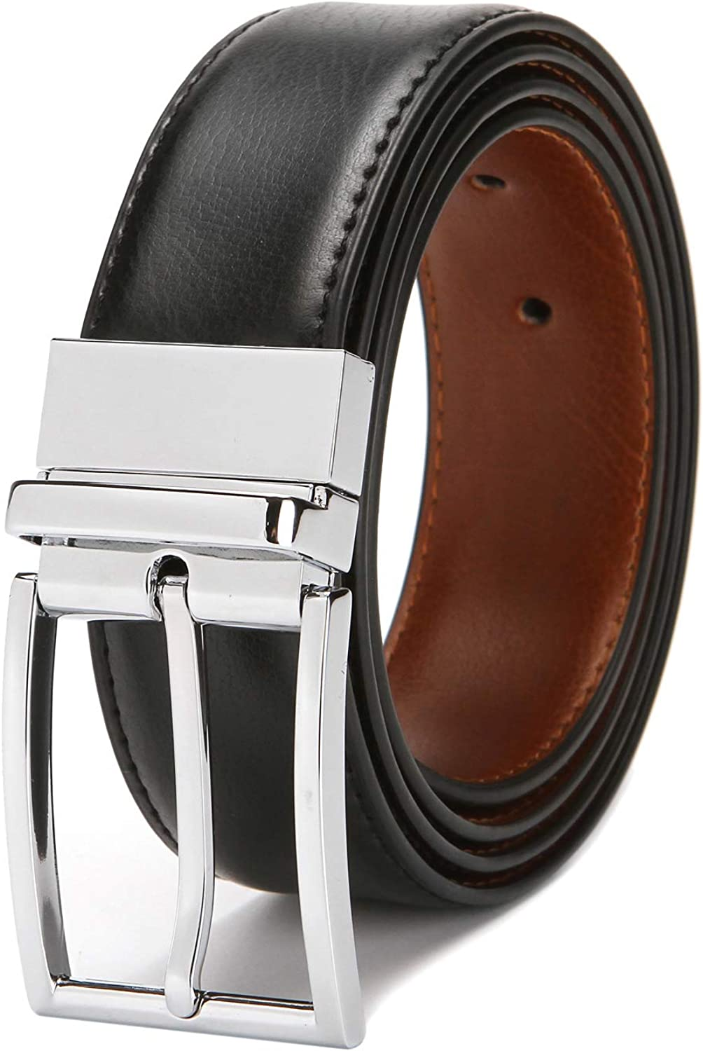 8b05d19276 ZFexia Men's Genuine Leather Belt, Reversible Dress Dress Dress Belt ...