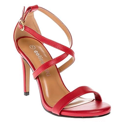 0326145ceb15 CALICO KIKI Women s Open Toe Cross Strap Platform Evening Dress High Heel  Pumps