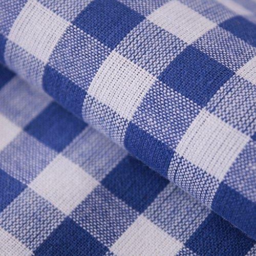 Hans-Textil-Shop Stoff Meterware Vichy Karo 1x1 cm Blau Baumwolle Karomuster Kariert