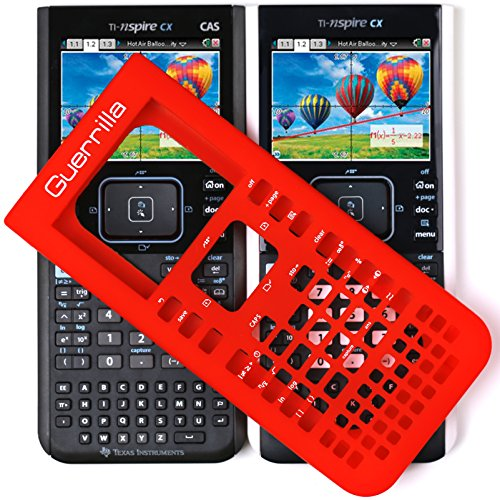 Guerrilla Silicone Case for Texas Instruments TI Nspire CX/CX CAS Graphing Calculator, Red Photo #7