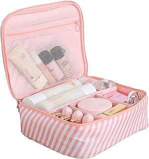 Make-upkoffer, eenvoudige en draagbare make-upkoffer, draagbare waterdichte mode met grote capaciteit, gelaagde niet-gewev...