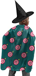 YUIOP Deluxe Halloween Children Costume Archery Target Colorado Round Wizard Witch Cloak Cape Robe and Hat Set