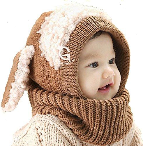 【POSITIVE】かわいい ひつじちゃんの ニット帽 ベビー & キッズ ふわふわ あったか 羊 の 着ぐるみ 風 こ...