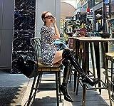 GYMS Botas por Encima De La Rodilla para Mujer, Botas por Encima De La Rodilla Elásticas De Charol Estilo Club Nocturno, Botas De Baile En Barra Sexy De 8 Cm, Tacones Altos, Otoño Invierno,37EU
