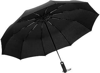 Fartido Taschenschirm Auf-Zu Automatik Mini Regenschirm Winddicht Schwarz Umbrella Automatic, Compact, and Super Light