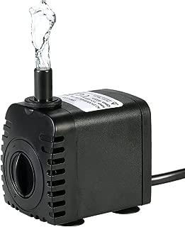 Bomba de Agua Sumergible,Decdeal 600L/H 8W Water Strider - con 2 Boquillas AC220-240V para Acuario Fuentes Estanque Sistemas Hidropónicos