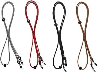 Hysagtek 4x Eyeglass Chains Glasses Holder Necklace Neck Strap Eyewear Spectacle String Cords (Black Red Brown Grey)