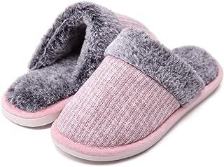شباشب SHIBEVER للنساء سهلة الارتداء داخلية من الفراء الصناعي الناعم حذاء منزلي دافئ من القطيفة في الهواء الطلق