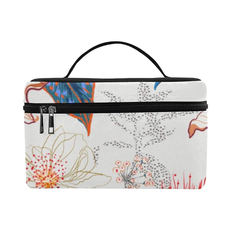 異なる四面体わずかなHAYO メイクボックス ロマンチックな花や葉 コスメ収納 化粧品収納ケース 大容量 収納ボックス 化粧品入れ 化粧バッグ 旅行用 メイクブラシバッグ 化粧箱 持ち運び便利 プロ用