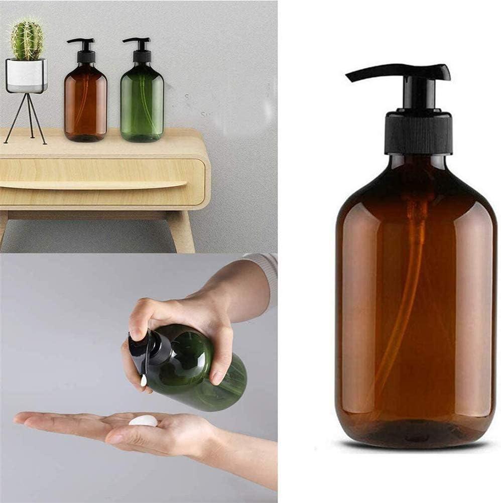 Stecto 1 Piezas 500ml Botella dispensadora de jabón de plástico Pet Recargable Duradera para Lavado de Manos, acondicionador, Gel de Ducha